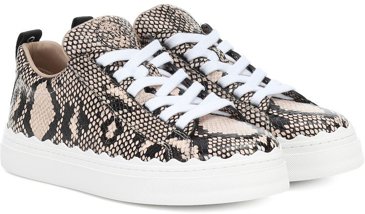 Chloã© Exclusive to Mytheresa a Lauren leather sneakers