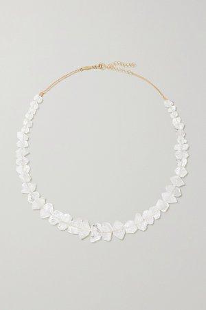 Gold 14-karat gold quartz necklace | Jacquie Aiche | NET-A-PORTER