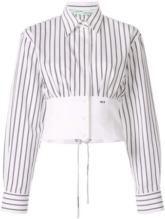 striped corset shirt