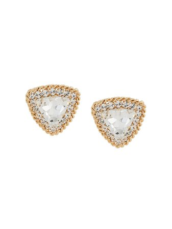 Alessandra Rich, Large Crystal clip-on Earrings