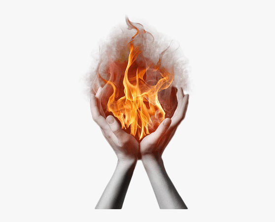 Holy Ghost Fire Png - Fire In Hands Png, Transparent Png - kindpng
