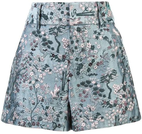 Alice+Olivia floral high waisted shorts