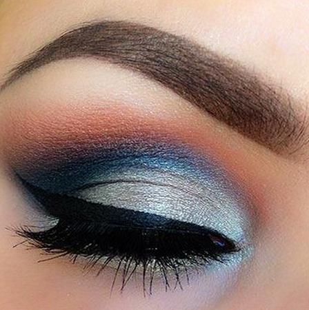 light blue smokey eye - Google Search