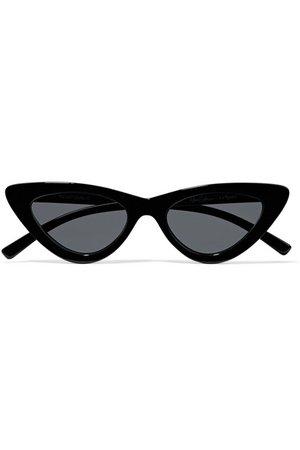 Le Specs   + Adam Selman The Last Lolita cat-eye acetate sunglasses   NET-A-PORTER.COM