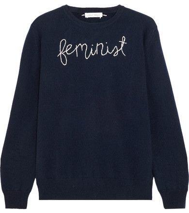 Lingua Franca - Feminist Embroidered Cashmere Sweater
