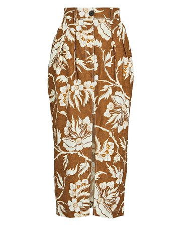 Mara Hoffman Florence Floral Midi Pencil Skirt   INTERMIX®