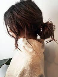 casual low messy bun - Google Search