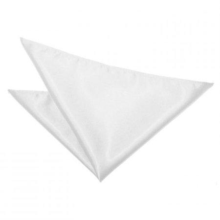 White Satin Pocket Square - James Alexander