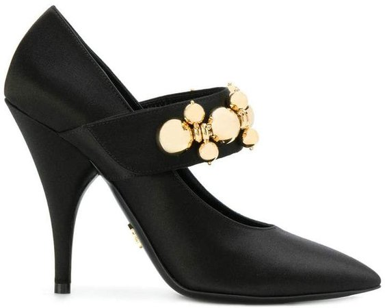 embellished strap Mary Jane pumps