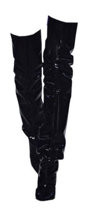 over-the-knee boots (black)
