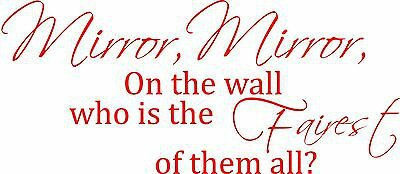 Small Wall Decal Sticker Mirror Mirror on the wall, Snow White Wall Quote Girls   eBay