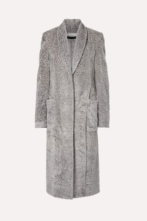 Faux Fur Coat - Gray