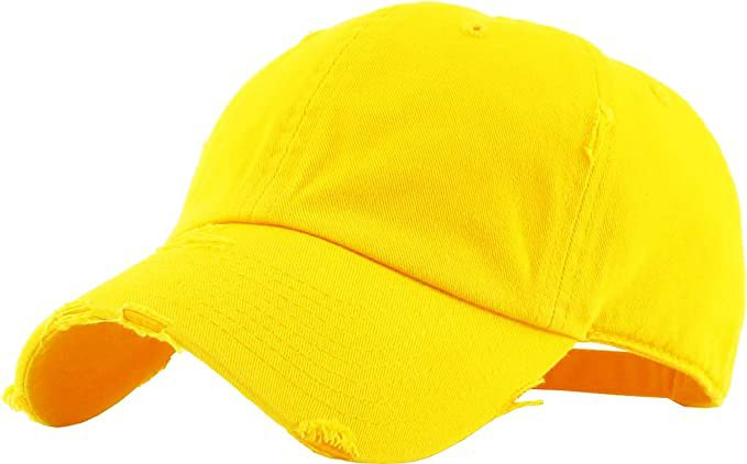 *clipped by @luci-her* KBE-Vintage BDM Vintage Washed Cotton Dad Hat Baseball Cap Polo Style Yellow: Clothing