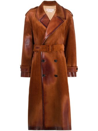 Marni, corduroy double-breasted trench coat