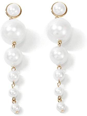 Amazon.com: Denifery Boho Gold Long Tassel Earrings Fringe Dangle Earrings Pearls Earrings Thin Earrings Handmade Bohemian Statement Earrings for Women Girls Daily Party: Clothing