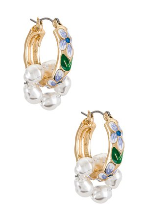 petit moments Baroque Earrings in Blue   REVOLVE