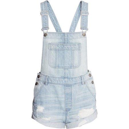 Denim Bib Overall Shorts
