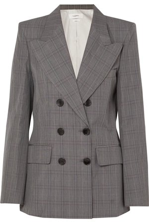 Isabel Marant Étoile | Iliane checked cotton-blend blazer | NET-A-PORTER.COM