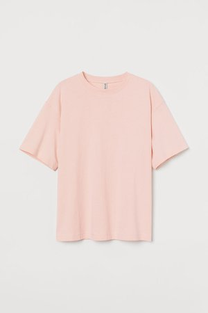 Wide-cut Cotton T-shirt - Pink