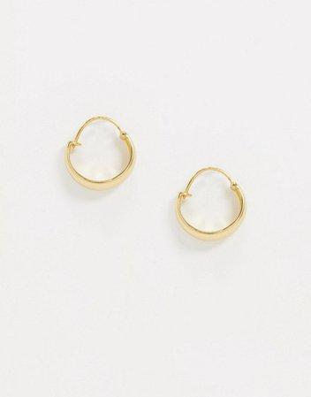 & Other Stories wide hoop earrings in gold | ASOS