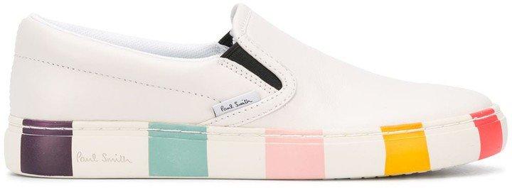 Striped Sole Slip-On Sneakers