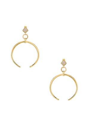 Crescent Drop Earring