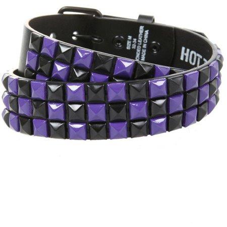purple/black checkered belt Hot Topic