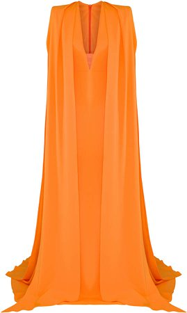 Vander Structured Crepe Gown