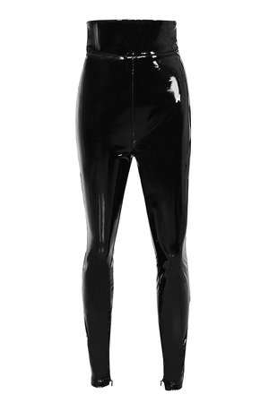 Clothing : Trousers : 'Harmony' Black Patent Ultra High Waisted Trousers
