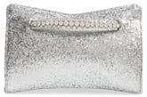 Galactica Glitter Clutch with Crystal Bracelet Handle