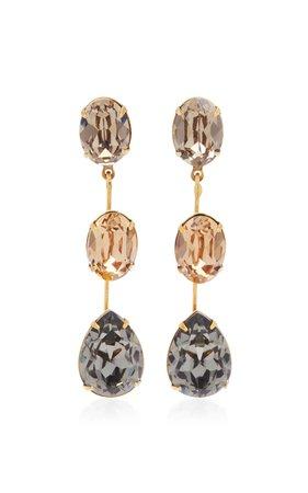 Allanah Gold-Plated and Crystal Earrings by Jennifer Behr | Moda Operandi