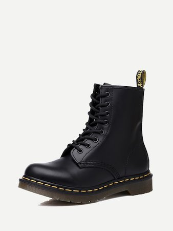 Solid Lace-up Boots | SHEIN