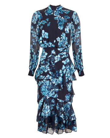 Isla Ruffle Midi Dress