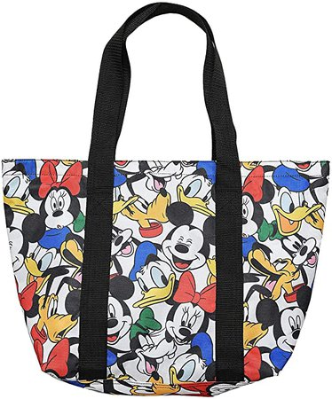 Disney Tote Travel Bag Mickey, Minnie, Donald, Goofy, Pluto Print