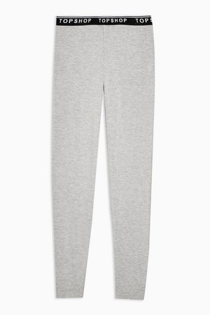 Grey Elastic Leggings | Topshop
