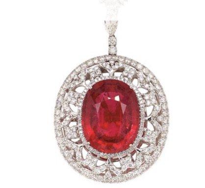 Flame Orange Spinel Gemstone Diamond Ring