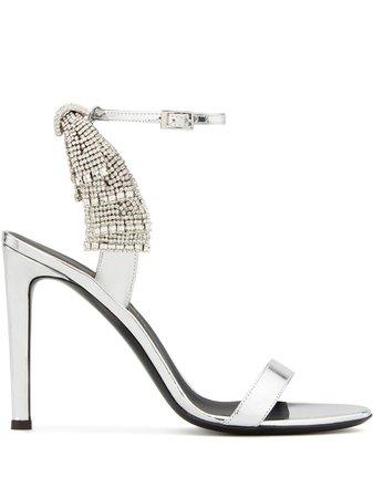 Giuseppe Zanotti Jamila 105Mm Embellished Sandals E000047005 Silver | Farfetch