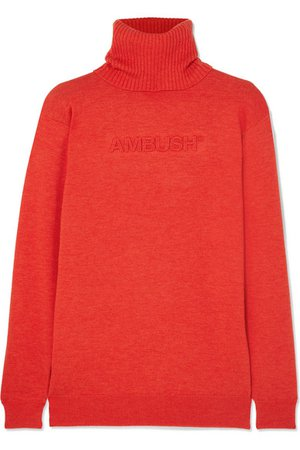AMBUSH® | Wool-blend turtleneck sweater | NET-A-PORTER.COM