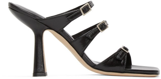 Black Malene Heeled Sandals