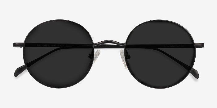 Sun Synapse - Sleek Black Shades With Round Frames | EyeBuyDirect