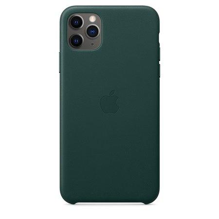 Coque en cuir pour iPhone11Pro Max - Vert forêt - Apple (FR)