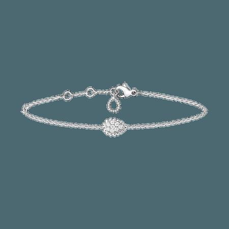 Boucheron, SERPENT BOHÈME BRACELET XS MOTIF Bracelet set with pavé diamonds, in white gold