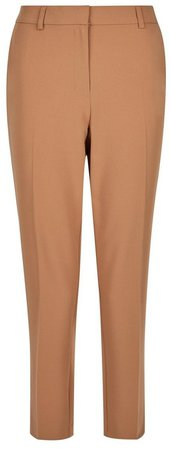 Camel Ankle Grazer Trousers