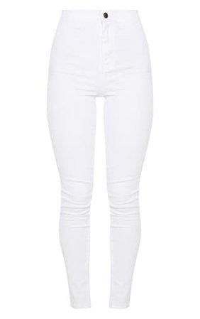 White Disco Skinny Jean | Denim | PrettyLittleThing