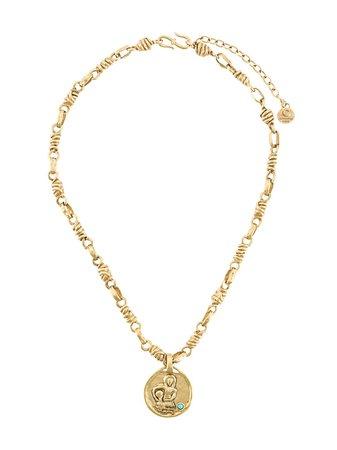 Goossens Talisman Aquarius Medal Necklace   Farfetch.com