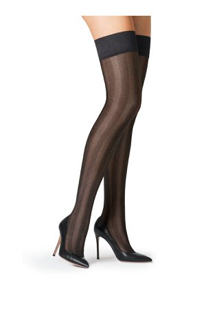 Striped Stay-Up Stockings Gr. S