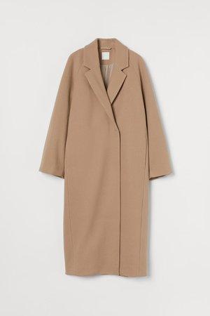 Пальто до икры - Бежевый - Женщины | H&M RU