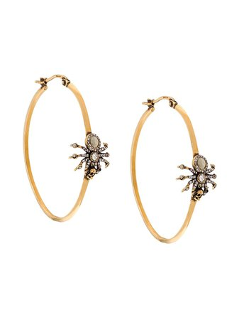 Alexander McQueen Skull Spider Hoop Earrings - Farfetch