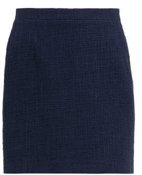 Alessandra Rich - High Rise Tweed Mini Skirt - Womens - Navy