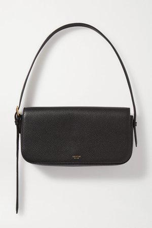 Black Anouk textured-leather shoulder bag | Oroton | NET-A-PORTER